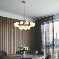Nuura Nuura A House Cph Da Costa Living Apiales 18 Brushed Brass Dining Room